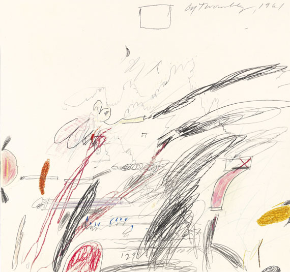 Cy Twombly - Untitled (Notes from a Tower)
